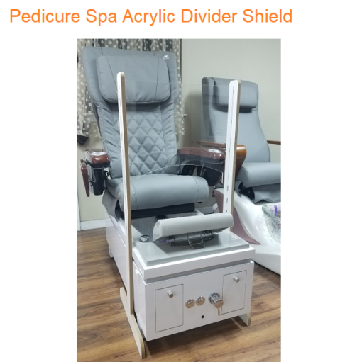 Pedicure Spa Acrylic Divider Shield 18.5″H x 26″W