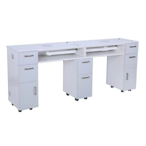 Milano Double Nail Table With Vent Pipe