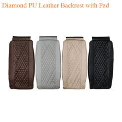 Diamond PU Leather Backrest with Pad