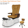 Verona Single Luxury Spa Pedicure Bench with Magnetic Jet – Spacious Seating