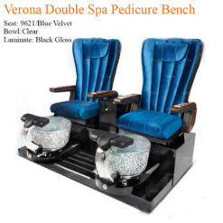 Verona Double Luxury Spa Pedicure Bench with Magnetic Jet Spacious Seating 5 247x247 - Equipment nail salon furniture manicure pedicure