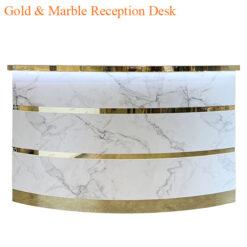 Gold & Marble Reception Desk